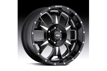 BMF Wheels M-80, 17x9 with 6 on 5.5 Bolt Pattern - Death Metal Black and Machined 462B-790613900 BMF Wheels
