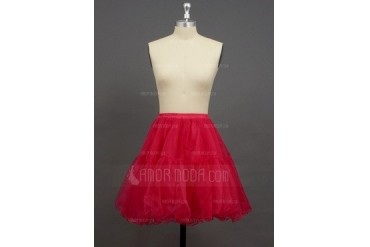 Women/Girls Organza/Polyester Short-length 2 Tiers Petticoats (037033994)
