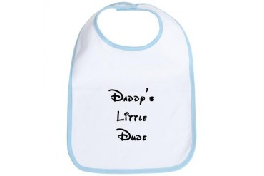 Daddy's Little Dude Baby boy Bib by CafePress