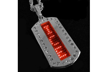 Scrolling LED Dog Tag (Red)