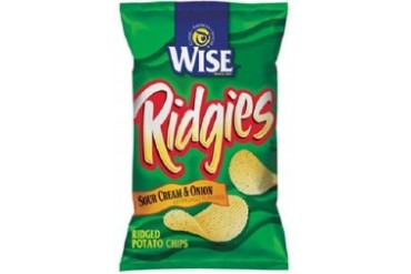 Wise Ridgies Sour Cream amp Onion Potato Chips