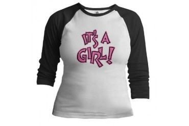 It's A Girl III Cupsthermosreviewcomplete Jr. Raglan by CafePress