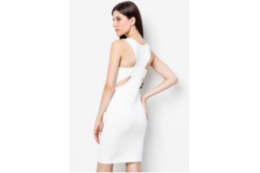 LASH Criss Cross Cut Out Back Dress