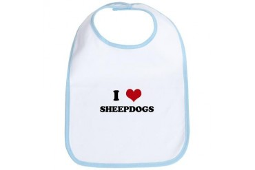 SHEEPDOGS.png Funny Bib by CafePress