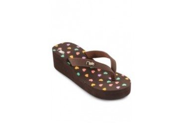 Hearts Wedge Flip Flops