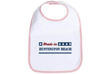 Made in Huntington Beach California Bib by CafePress