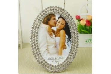 Bride & Groom Zinc Alloy Photo Frames With Rhinestone (051031708)