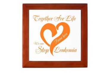 Stop Leukemia Cancer Keepsake Box by CafePress