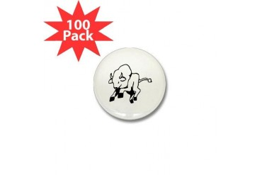 Bull Animals Mini Button 100 pack by CafePress
