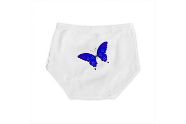 Blue butterfly Unique Diaper Cover by CafePress