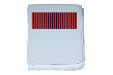 vertical stripe Red baby blanket by CafePress