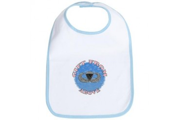 Airborne Baby Girl Military Bib by CafePress