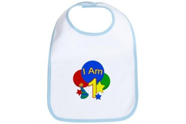 I Am 1 Birthday primary Princess Bib by CafePress