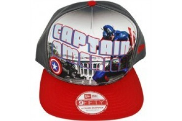 Marvel Comics Captain America Name Hero Poster 9Fifty Dye Sublimated Snap Closure Hat