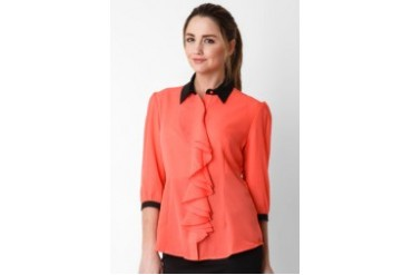 Accent Christy Combo Ruffles Blouse