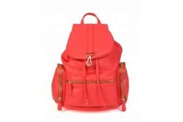 Nila Anthony Faux Leather Backpack With Gold Hardware Coral