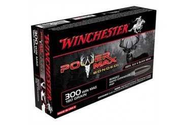 Winchester Power-Max Bonded Rifle Ammunition - Win Ammo 300 Win Mag 180gr Power Max Bonded Super-X 20/Box