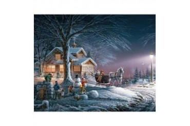 Terry Redlin Winter Wonderland 1000 Piece Puzzle