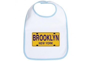 Brooklyn Retro Plate New york Bib by CafePress