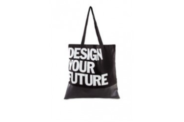 Limkokwing Fashion Club Canvas Leather Bag With Typo
