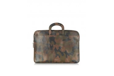 Brown Artisan Camo Leather Portfolio