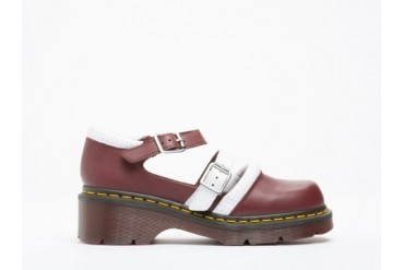 Agyness Deyn X Dr. Martens Aggy Strap Shoe in Cherry Red White size 5.0