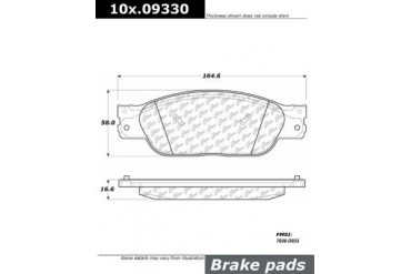 2004-2005 Jaguar XJ8 Brake Pad Set Centric Jaguar Brake Pad Set 105.09330 04 05