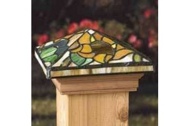 Deckorators 76230 Tiffany Style Sunflower Post Cap With Treated Base