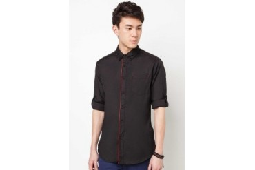 3/4 Sleeve Shirt With Contrast Piping