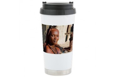Himba 20 Africa Ceramic Travel Mug by CafePress