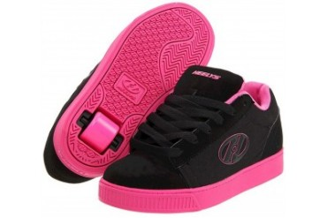 Heelys Straight Up Roller Shoe (Black/Hot Pink, Clearance Youth 5, No Wheels)