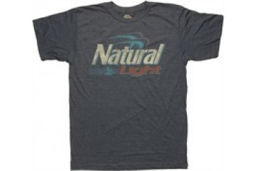 Natural Light Logo Heather Blue T-Shirt Sheer