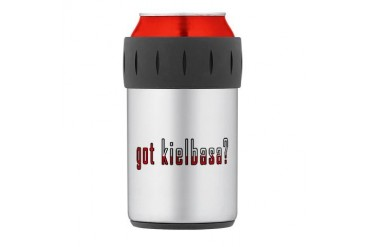 got kielbasa? Flag Thermos Can Cooler Family Thermosreg; Can Cooler by CafePress