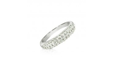 Fantasmania - White Crystal Band Ring