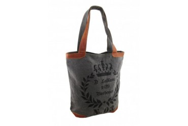 1829 Bordeaux No. 03 Grey Canvas Tote Bag