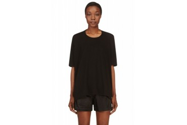 T By Alexander Wang Black Enzyme Washed T shirt
