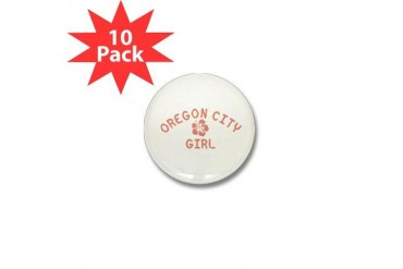 Oregon City Pink Girl Oregon Mini Button 10 pack by CafePress
