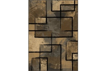 Orian American Heirloom Contemporary Gray Geometric Blocks Boxes Area Rug