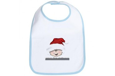 Caucasian Baby's First Christmas Family Bib by CafePress