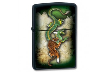 "Zippo ""Fighting Tiger/Dragon"" Lighter"