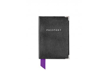 Lizard Print Plain Passport Cover