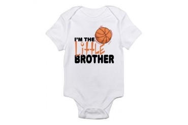 Little Brother Basketball Baby Infant Bodysuit