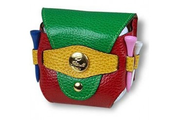 Multicolor Leather Golfball Holder
