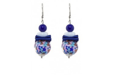 Murano Glass Lollipop Earrings