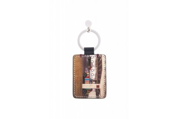 Paul Smith Beige Mini On Location Key Ring