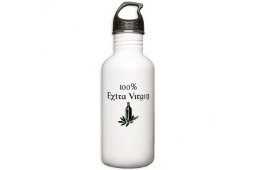 100 Extra Virgin Humor Stainless Water Bottle 1.0L by CafePress