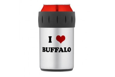 BUFFALO.png Thermos Can Cooler Funny Thermosreg; Can Cooler by CafePress