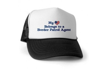 My Heart: Border Patrol Agent Police Trucker Hat by CafePress