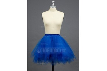 Women/Girls Tulle Netting/Polyester Short-length 3 Tiers Petticoats (037033970)
