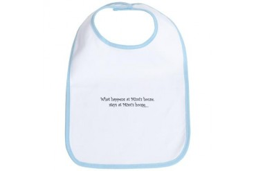 What happens at Mimi's... I Baby Bib by CafePress